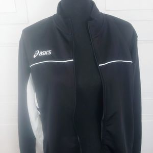 Asics Black & White Track Jacket
